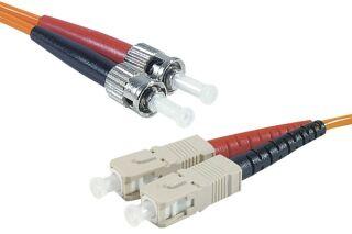 Jarretière optique duplex HD multi OM1 62,5/125 ST-UPC/SC-UPC orange - 5 m
