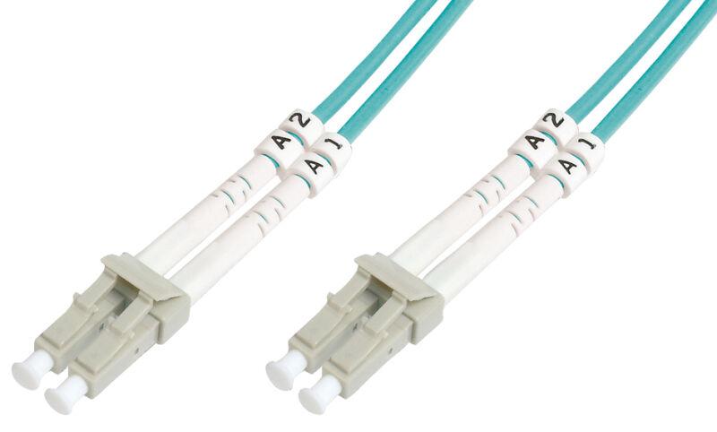 Câbles à fibres optiques OM3 , connecteur LC-connecteur LC,