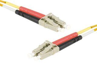 Jarretière optique duplex HD multi OM2 50/125 LC-UPC/LC-UPC orange - 1 m