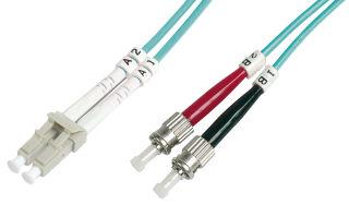 câble à fibres optiques OM3, connecteur-LC - connecteur-ST,