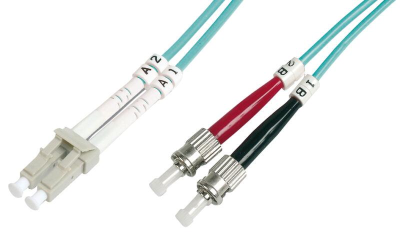 Câble à fibres optiques OM3 , connecteur LC-connecteur ST,