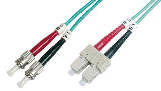 Câble OM3 à fibres optiques, connecteur ST - connecteur SC,