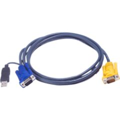 Câble KVM 2L-5202UP USB/VGA vers SPHD 1.8m