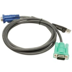 Câble KVM 2L-5203U - USB/VGA vers SPHD 3m