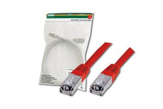 Câble RJ45 premium S/FTP Cat.5e rouge, 0,50 M