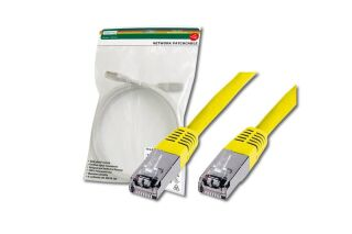 Câble RJ45 premium S/FTP Cat.5e jaune, 0,50 M