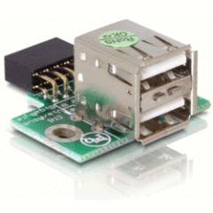 Adaptateur interne USB 2.0 HE10 - 2 USB type A