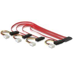 Câble SAS SFF-8484 vers 4X SFF8482 + alim 50cm