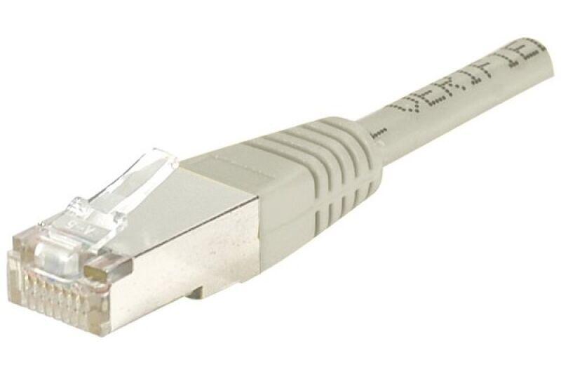Câble RJ45 CAT5e F/UTP premium Gris - 0,70 M