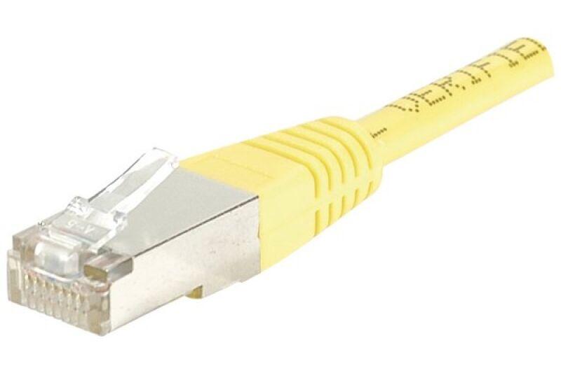 Câble RJ45 CAT5e F/UTP premium Jaune - 0,70 M