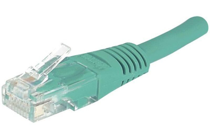 Câble RJ45 CAT6 U/UTP premium Vert - 1 M