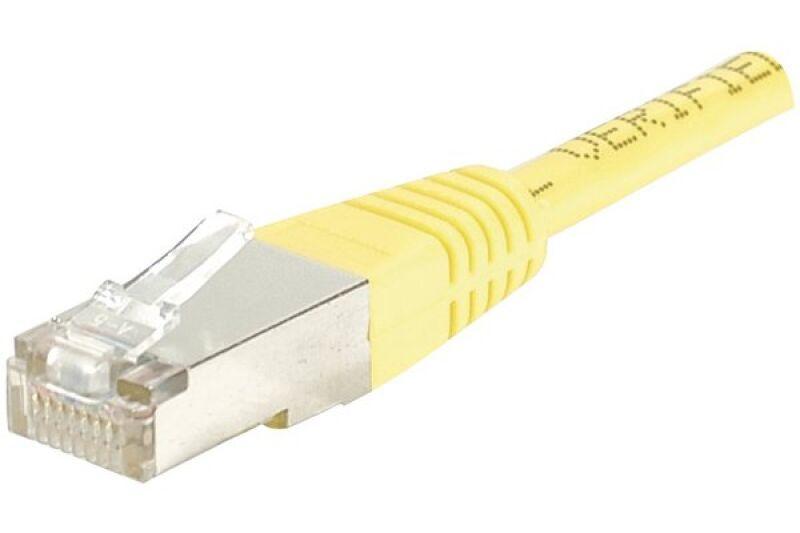 Câble RJ45 CAT6 F/UTP premium Jaune - 10 M