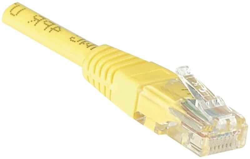 Câble RJ45 CAT6 U/UTP premium Jaune - 2 M
