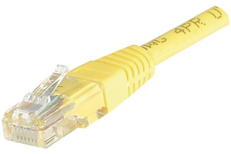 Câble RJ45 CAT6 U/UTP premium Jaune - 15 M