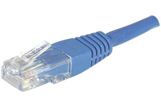 Câble RJ45 CAT6 U/UTP premium Bleu - 0,50 M