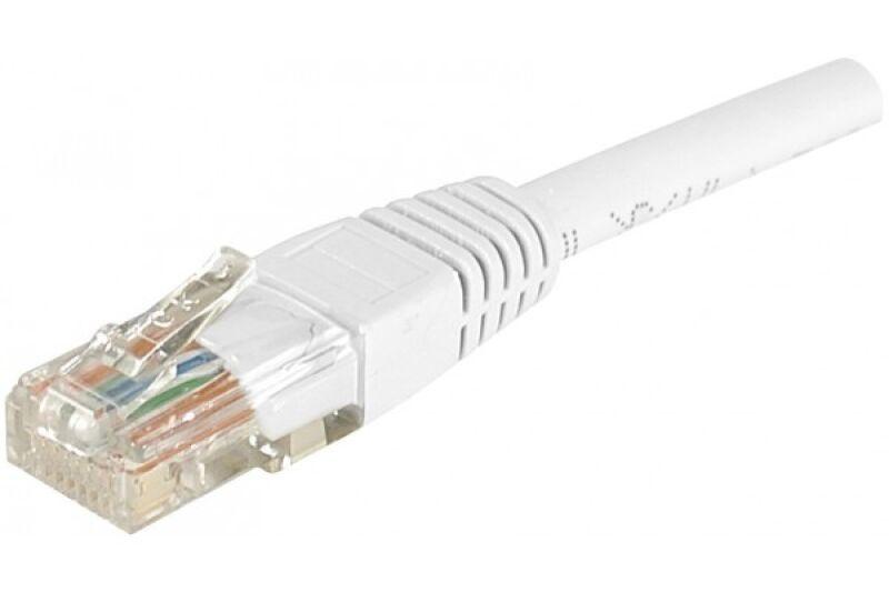 Câble RJ45 CAT6 U/UTP premium Blanc - 25 M