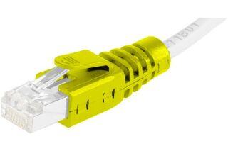 Manchons câbles RJ45, clipsable, jaune (x10)