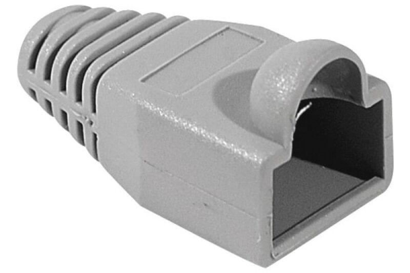 Manchons câbles RJ45, diam. 5,5 mm, gris (x10)
