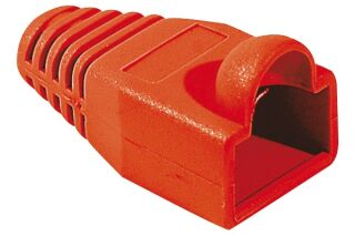 Manchons câbles RJ45, diam. 5,5 mm, rouge (x10)