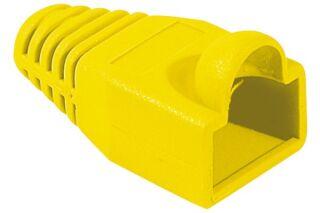 Manchons câbles RJ45, diam. 5,5 mm, jaune (x10)