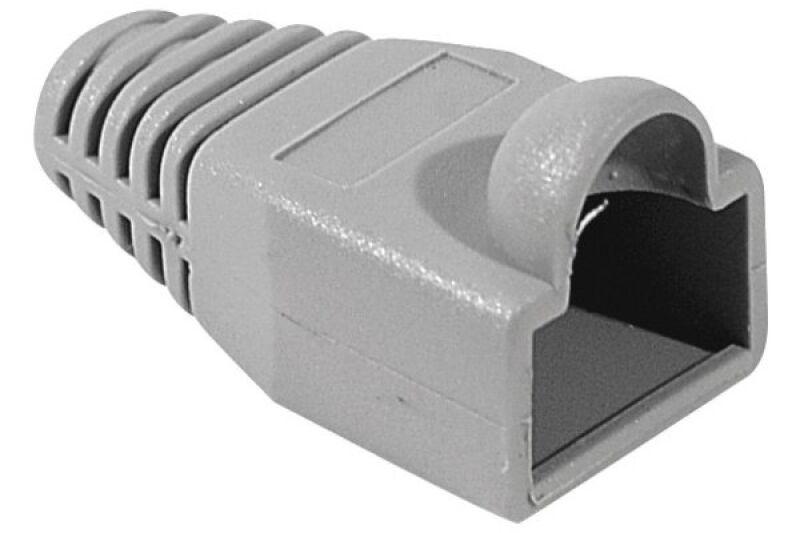 Manchons câbles RJ45, diam. 6 mm, gris (x10)