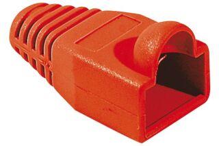 Manchons câbles RJ45, diam. 6 mm, rouge (x10)