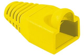Manchons câbles RJ45, diam. 6 mm, jaune (x10)