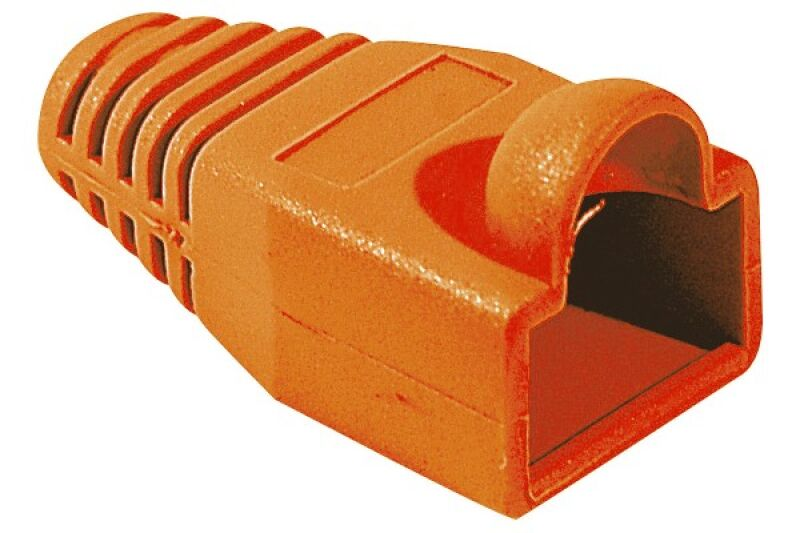 Manchons câbles RJ45, diam. 6 mm, orange (x10)