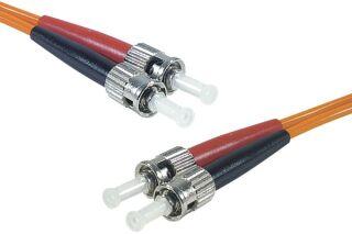 Jarretière optique duplex multimode OM2 50/125 ST-UPC/ST-UPC orange - 5 m