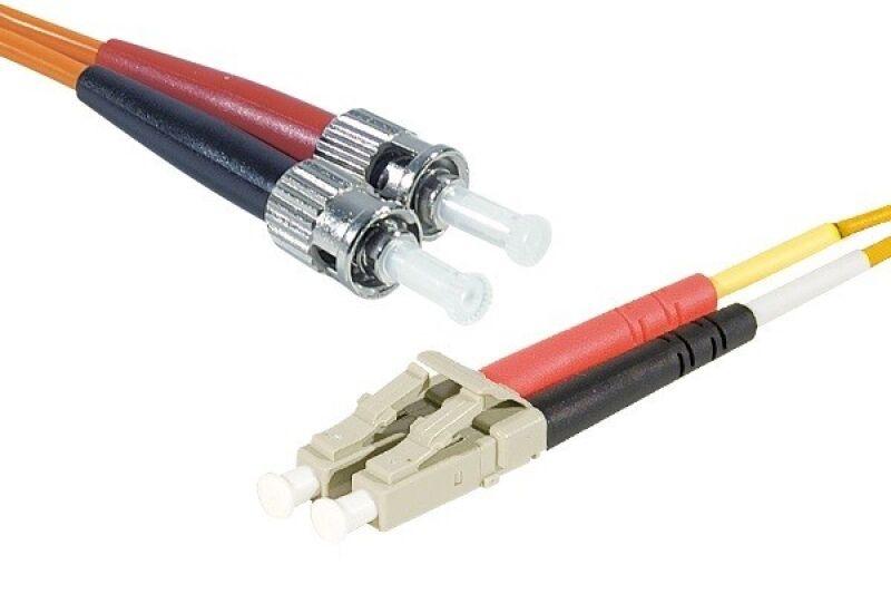Jarretière optique duplex multimode OM2 50/125 SC-UPC/LC-UPC orange - 5 m