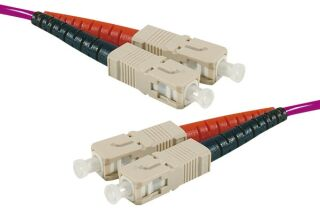 Cordon Duplex OM3 Violet 50/125 LSOH SC/SC - 1M