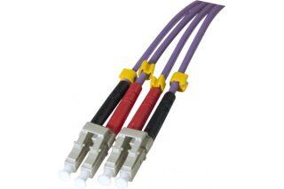 Jarretière optique duplex multimode OM3 50/125 LC-UPC/LC-UPC violet - 5 m
