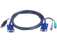 Cable kvm ATEN 2L-5502UP VGA-USB-PS2 - 1,80M