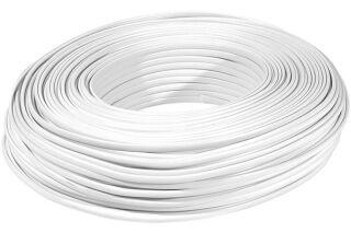 Câble méplat RJ  blanc 6C - rouleau de 100m