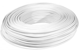 Câble méplat RJ blanc 8C - rouleau de 100m