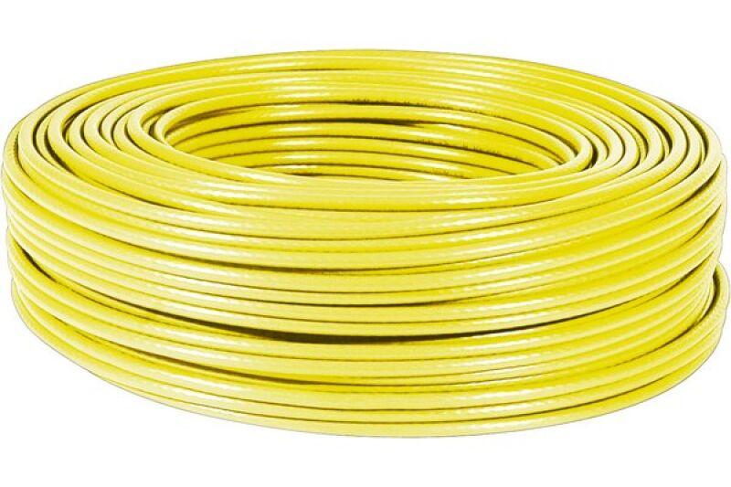 Câble RJ45 Cat. 6, F/UTP Multibrin, 100 m jaune