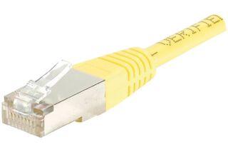Câble RJ45 CAT6 F/UTP premium Jaune - 0,50 M