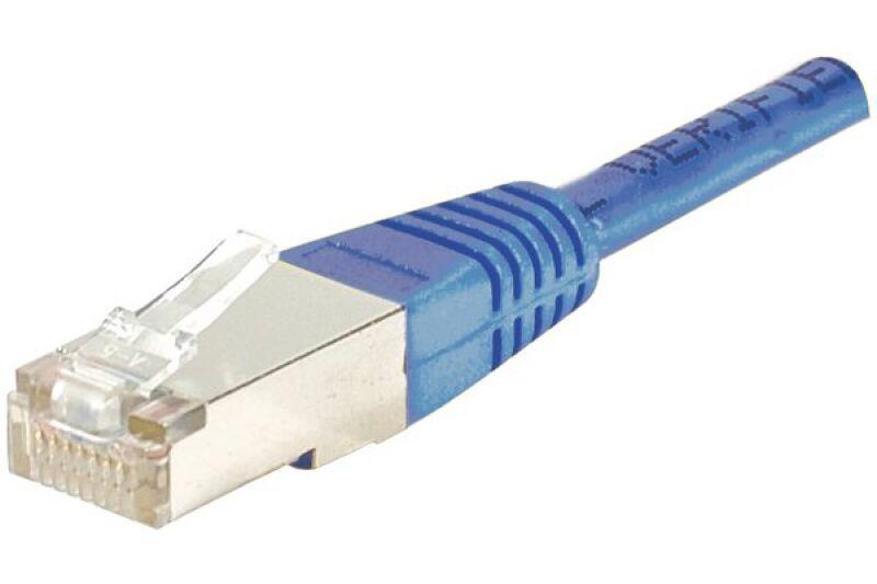 Câble RJ45 CAT6 F/UTP premium Bleu - 3 M