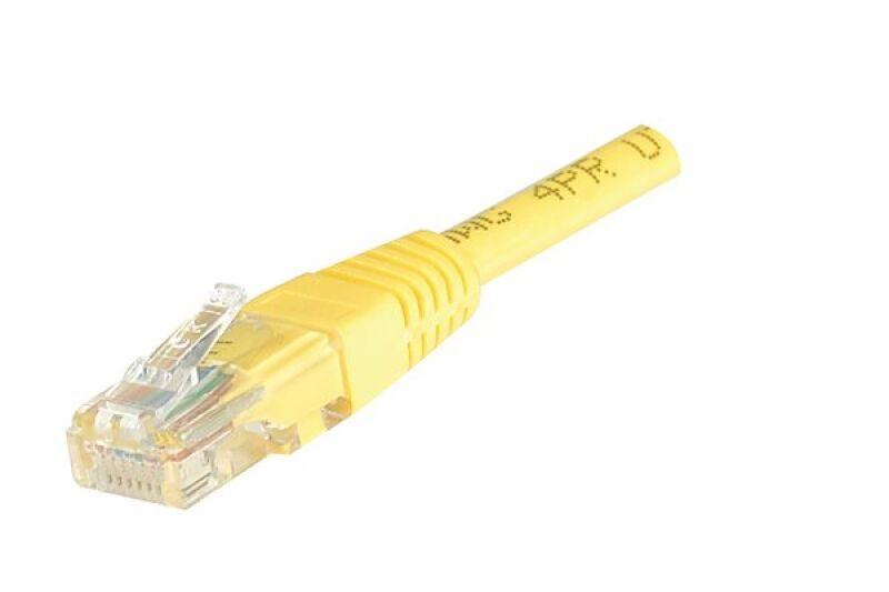 Câble RJ45 CAT5e U/UTP premium Jaune - 0,50 M
