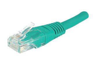 Câble RJ45 CAT5e U/UTP premium Vert - 0,50 M