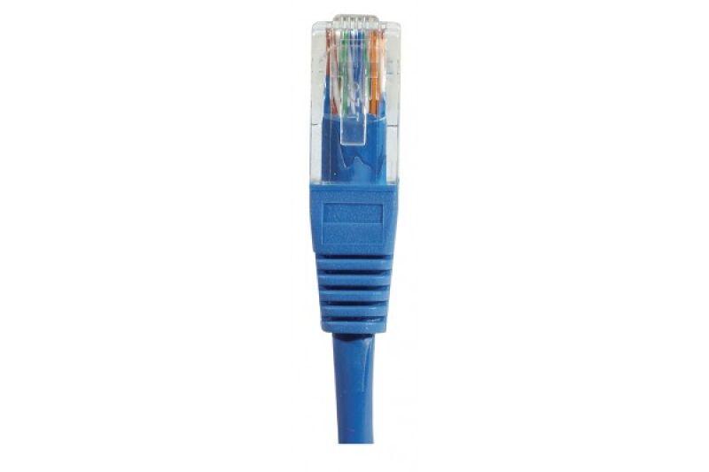 Câble RJ45 CAT5e U/UTP premium Bleu - 1 M