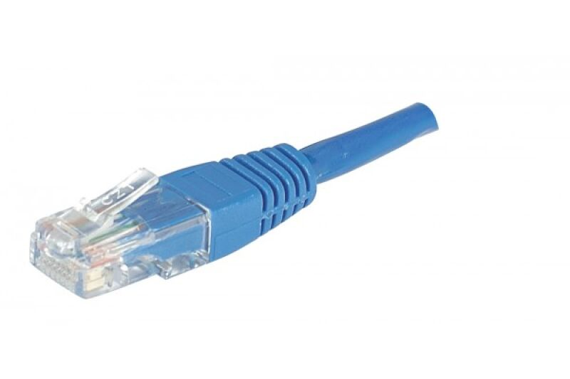 Câble RJ45 CAT5e U/UTP premium Bleu - 10 M