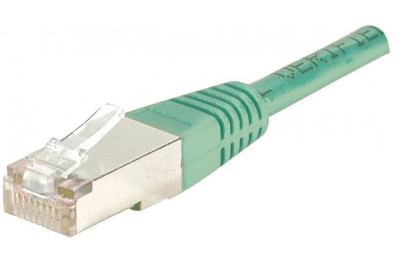 Câble RJ45 CAT5e F/UTP premium Vert - 1,50 M