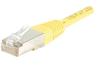 Câble RJ45 CAT5e F/UTP premium Jaune - 5 M