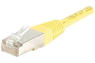 Câble RJ45 CAT5e F/UTP premium Jaune - 2 M