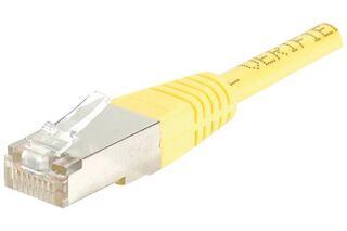Câble RJ45 CAT5e F/UTP premium Jaune - 1 M