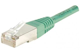 Câble RJ45 CAT5e F/UTP premium Vert - 1 M