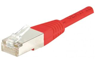 Câble RJ45 CAT5e F/UTP premium Rouge - 15 M