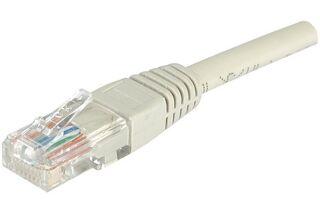 Câble RJ45 CAT6 U/UTP premium Gris - 0,50 M