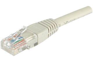 Câble RJ45 CAT6 U/UTP premium Gris - 1 M